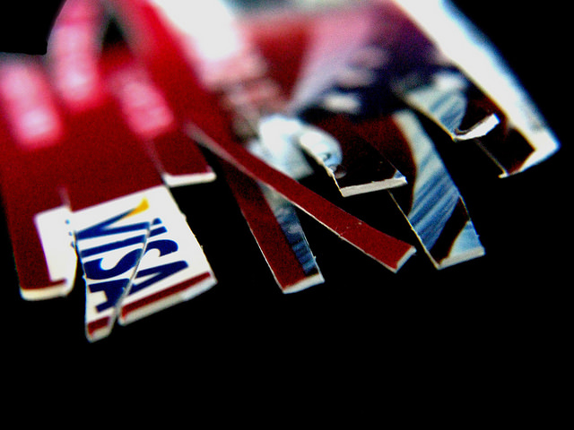 debt free credit card cut up