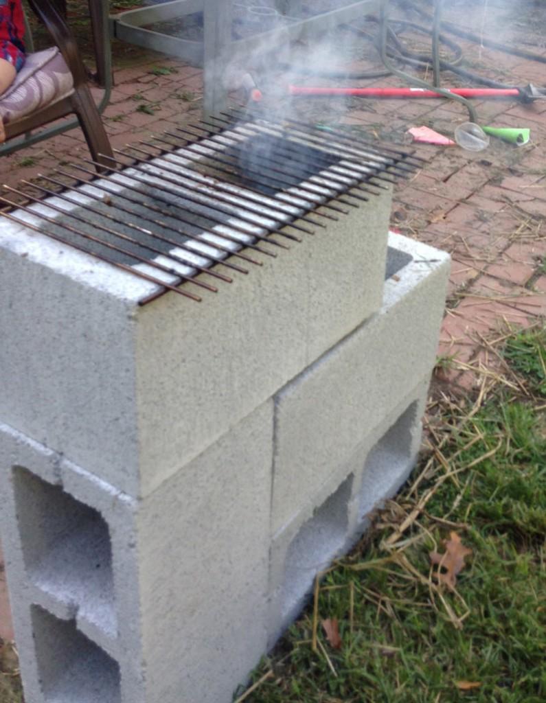 Double Rocket Stove Cinder Block Another Diagram Build Pinterest Cinderblock Cost 8 The Survival Gardener