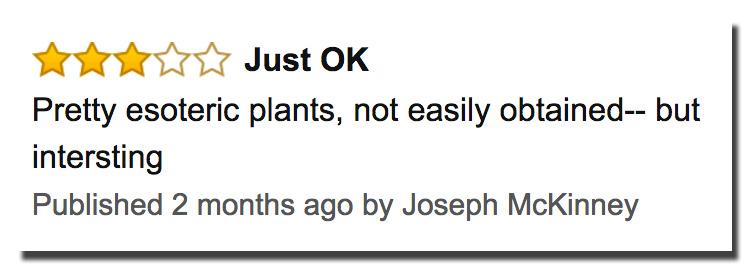 rare edible plants complaint about book