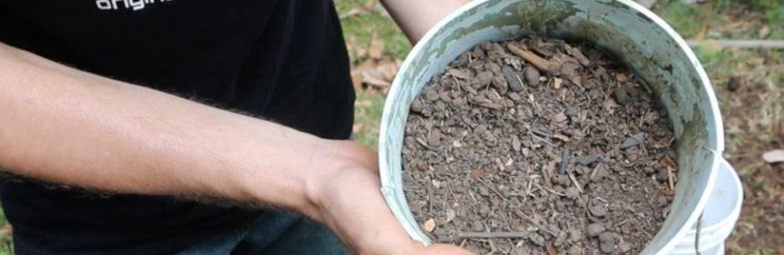Homemade-potting-soil-sifted-chicken-run-soil