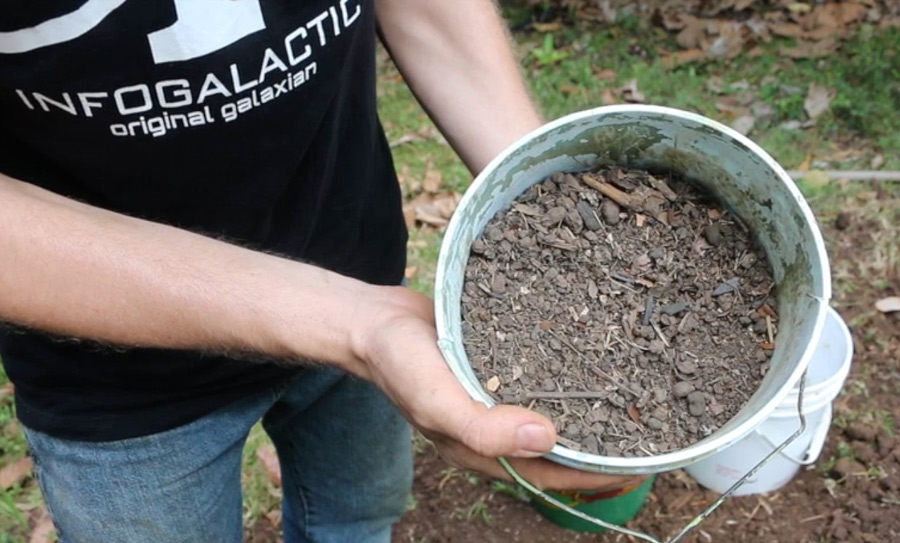 Homemade potting soil recipe sifted chicken run soil