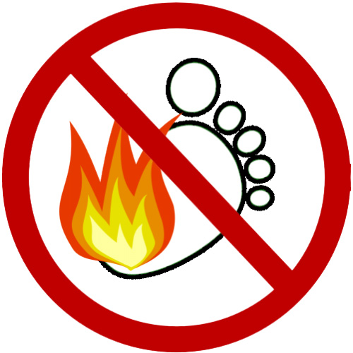 no-bare-feet-on-fire plastic in the garden - dont burn it