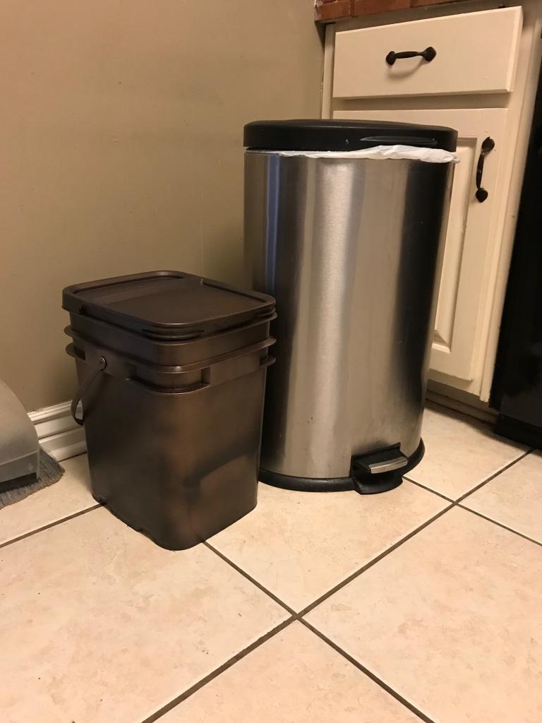 kitchen compost pile