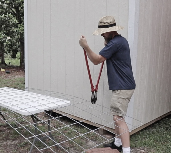 cutting a cattle panel trellis